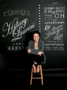 Creative Resume, Chalk, Wall, Chalkboard, and Hillary image ideas & inspiration on Designspiration Cv Inspiration, Graphic Design Inspiration, Graphic Design Resume, Typography Design, Hand Typography, Creative Typography, Typography Quotes, Graphisches Design, Creative Design