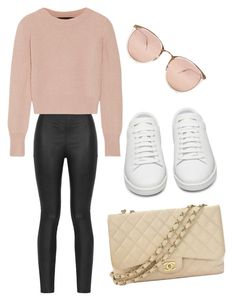 """""""Rose gold"""" by luckyaznowl on Polyvore featuring Armani Jeans, The Elder Statesman, Linda Farrow, Chanel and Yves Saint Laurent"""