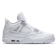 "Air Jordan 4 Retro ""Pure Money"" (2017) ❤ liked on Polyvore featuring shoes"