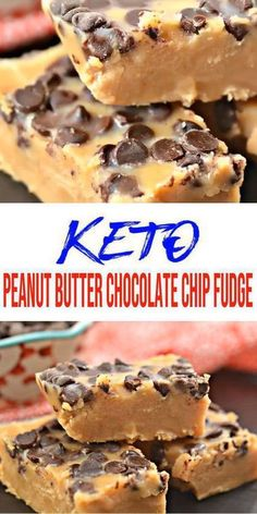 Are you wanting some of the best keto fudge? Why not try this recipe for low carb keto peanut butter chocolate chip fudge. A savory fudge recipe that is easy to make and super tasty. Peanut Butter Chocolate Chip Recipe, Chocolate Chip Recipes Easy, Gluten Free Peanut Butter, Keto Chocolate Chips, Low Carb Chocolate, Healthy Chocolate, Fudge Recipes, Chocolate Fudge, Dessert Chocolate