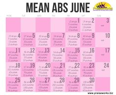 our Mean Abs June 2012 - great workout to improve and tone your abs