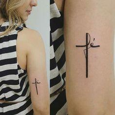 tatuagem cruz delicada - Pesquisa Google