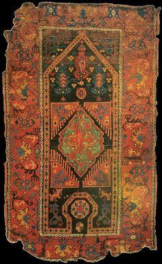 UŞAK 'Bellini' carpet, 16th - 17th century. (Türk ve Islam Eserleri Muzesi, Istanbul).