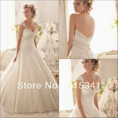 Gorgeous Ball Gown Sweetheart Appliques Beaded Ivory Removeable Straps Country Western Wedding Dresses