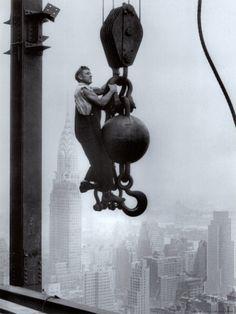 Bouwvakkers op de Empire State Building Kunstdruk