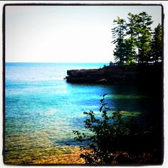 Madeline Island, WI  One of the most beautiful places you could ever vacation. When I was little, we'd go there 2 weeks staying at Kron's Cabins.  Evie was so sweet to us all, she passed away recently.
