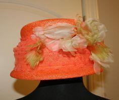 Fabulous Retro Garden Party Vintage Orange Straw by BabesnBecky, $25.00