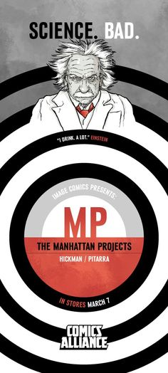 'The Manhattan Projects': Gagarin And Einstein [Jonathan Hickman Exclusive]    Read More: http://www.comicsalliance.com/2012/02/09/manhattan-projects-hickman-teasers-einstein-gagarin/#ixzz1m51rJvvY