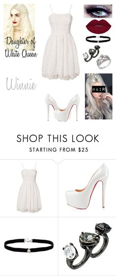 """Winnie: Daughter of White Queen (RE-Done)"" by sydneytorrie-916 ❤ liked on Polyvore featuring Burton, Vero Moda, Christian Louboutin, Amanda Rose Collection, Oscar de la Renta and Fantasy Jewelry Box"