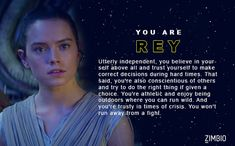 Which 'Star Wars: The Force Awakens' Character Are You? (I got Rey yay!)