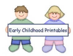 Early Childhood Printables - Printable Learning Activities For Children Ages 2-Kindergarten