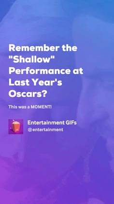 """Remember the """"Shallow"""" Performance at Last Year's Oscars? by Entertainment GIFs At Last, Movie Gifs, Shallow, Good Things, Entertaining, In This Moment, Movies, Amor, Places To Visit"""
