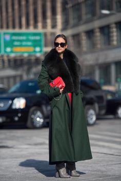 CHARLOTTE GROENEVELD. W16 fur detail longline coat @citizencouture
