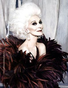 Carmen Dell'Orefice...can I please look like her someday?