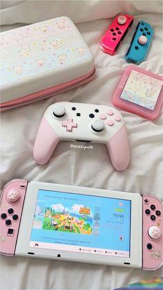 my pink nintendo switch💕 – Game Room İdeas 2020 Nintendo Switch Accessories, Gaming Accessories, Console Style, Nintendo Switch Case, Kawaii Bedroom, Otaku Room, Gaming Room Setup, Gaming Rooms, Accessoires Iphone