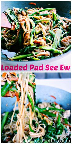 Loaded Pad See Ew #cleaneating #healthy #homemade #veggienoodles #makeathometakeout @wholefoodbellies.com