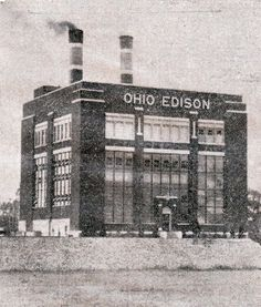 Ohio Edison, Springfield, Ohio (No longer there) I remember when this was being torn down and it took one of my friends talking about it and this picture to make me remember that it was even there in the first place. It's crazy what we forget. Springfield Ohio, National Road, The Buckeye State, Clark County, Toledo Ohio, Famous Places, Cleveland Ohio, Old City, Great Lakes