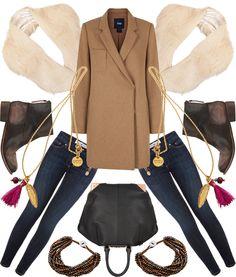 Fur collar - shopping / layout Samantha Kamiński / rostyleandlife.com
