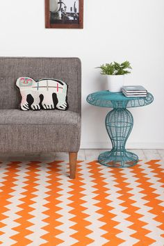 zigzag urban outfitters rug