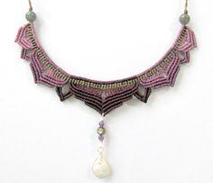 Macrame Lotus Halskette Anweisung Halskette von Mediterrasian