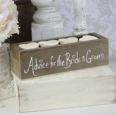 Rustic Guest Book Box Alternative Advice For The Bride and Groom (item P10244). $79.99, via Etsy.