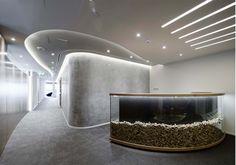 Modern Office Reception - Rethink, Dubai - design by Swiss Bureau Interior Design LLC.