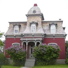wonderful house, just move those lilacs away from the house so we can see it!-  Second Empire Victorian, Helena, MT