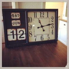 Klok Kalender | Klokken | Giga meubel industrieel