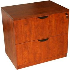 Boss Office Products Executive 2-Drawer Lateral Desk File, Red