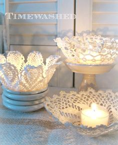 TIMEWASHED: Blissful Whites Wednesday!! I love this up-cycle of beautiful crochet, a personal passion of mine.