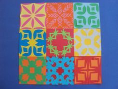 (I think that these would be cool on a playroom wall.) Paper Quilts made in Term We learned to fold paper squares and cut intricate patterns into them to create symmetrical designs. These quilts are based on Cook Island tivaevae. « room seven kowhai Paper Art, Paper Crafts, Cut Paper, Paper Quilt, Art Cart, Math Art, Thinking Day, Applique Quilts, Teaching Art
