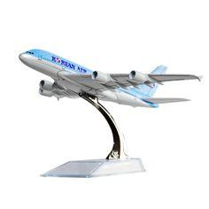 Korean Air A380 Avion Modèle, 16 CM, Modèles d'avions D'anniversaire Cadeau 1:400 Livraison Gratuite Cadeau De Noël