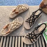 Sandals Women's Summer Shoes 2019#shoes #sandals #sliders #summrt #outfit #beach #swimsuit #dresses Black Flats Shoes, Blue Suede Shoes, Top Shoes, Shoes Men, Rope Sandals, Open Toe Sandals, Beach Sandals, Shoes Sandals, Stylish Sandals