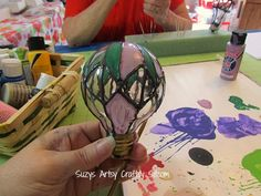 How to make hot air ballon suncatchers from recycled light bulbs!