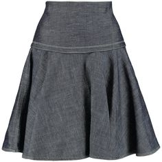 Rag & bone Elsa denim mini skirt (9.230 RUB) ❤ liked on Polyvore featuring skirts, mini skirts, dark denim, flare short skirt, zipper skirt, denim mini skirt, flared skirt and blue and white skirt