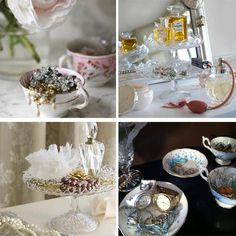 Vintage jewellery displays