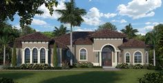 Florida Mediterranean House Plan 75939 Elevation