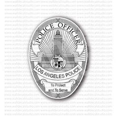 LA Los Angeles Police Officer Sticker