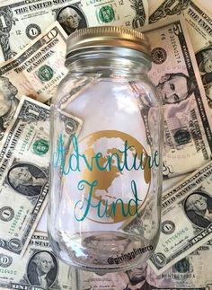 Adventure Fund // Mason Jar Bank (15.00 USD) by GivingGlitterCo