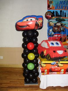 Traffic light balloons.  This would work without Lightning McQueen!