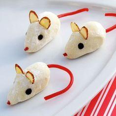 Cinderella's Christmas Mice Truffles! Adorable!