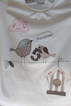"""T-Shirts - Kindershirt """"Das rosa Wölkchen"""" mit Name&Zahl - ein Designerstück von milla-louise bei DaWanda"""
