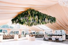 Ceremony Tent with Floral Canopy | Brides.com