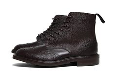 SOPHNET. x Trickers 2012 Fall/Winter Pebbled Wingtip Boot.
