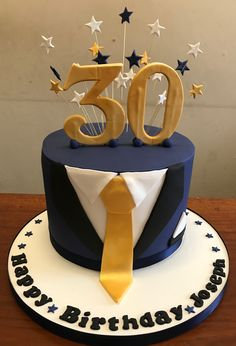 Tuxedo 30th Birthday Cake Thedanesbakery Cakes For Men With Photo