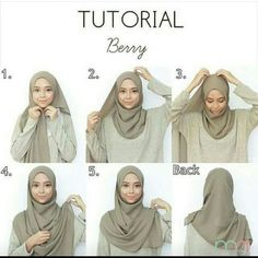 Tutorial for hijabers – Hijab Fashion 2020 Tutorial Hijab Pashmina, Square Hijab Tutorial, Simple Hijab Tutorial, Hijab Style Tutorial, Hijab Casual, Hijab Chic, Outfit Jeans, Hijab Mode Inspiration, Habits Musulmans