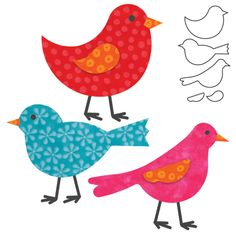 Free Printable Die Cut Shapes | cutting dies it fits birds item 088259 accuquilt go fabric cutting ...