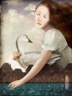 Girl at The Fountain by Christian Schloe.