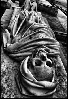 Okay, there's a joke in here, somewhere, I just can't pull it out...like this corpse on TOP of its sepulcher....