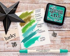 Distress Ink Color Pop: Lucky Clover!